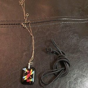 2/15 Dragonfly pendant necklace